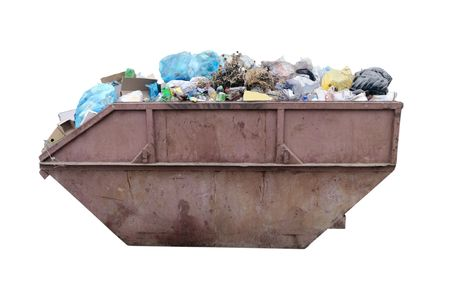 The image of dustbin under the white background Stock Photo - 7565454