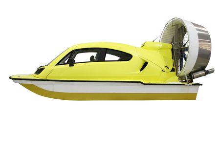 The image of aeroboat under the white background photo