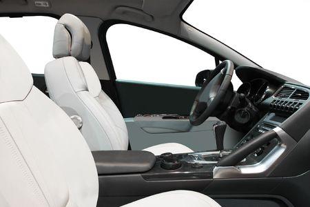 car audio: The image of interior inside of premium class car Stock Photo