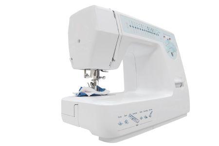 stitching machine: The image of stitching machine under the white background Stock Photo