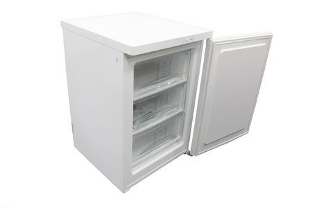 The image of open refrigerator under the white background Stock Photo - 7755903