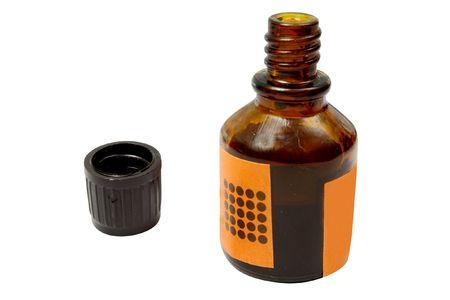 sterilize: The image of iodine bottle under the white background