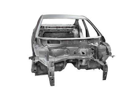 bodywork: body of a car under the white background