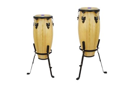 african drums: The image of ethnic african drums under the white background Stock Photo