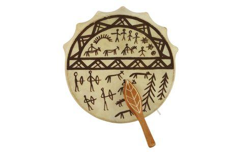 tambourine: The image of shaman tambourine under the white background
