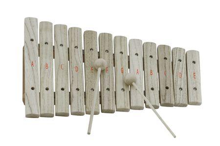 xylophone: La imagen de madera xil�fono bajo el fondo blanco