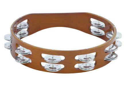 tambourine: The image of tambourine under the white background