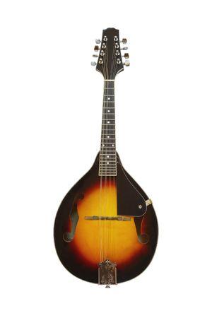 La imagen de la mandolina bajo el fondo blanco  Foto de archivo - 7974841