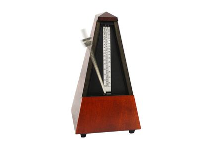 oscillation: The image of metronomes under the white background