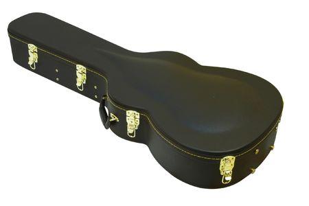 guitar case: La imagen del caso de la guitarra bajo el fondo blanco