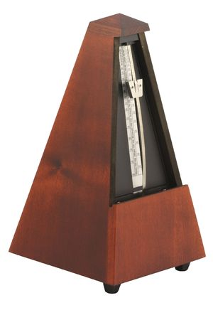 The image of metronome under the white background photo