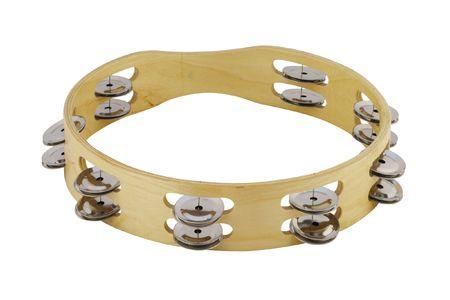 tambourine: La imagen de pandereta bajo el fondo blanco