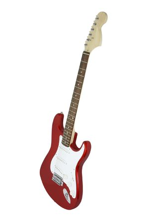 The image of electric guitar under the white background Stock Photo - 8091942