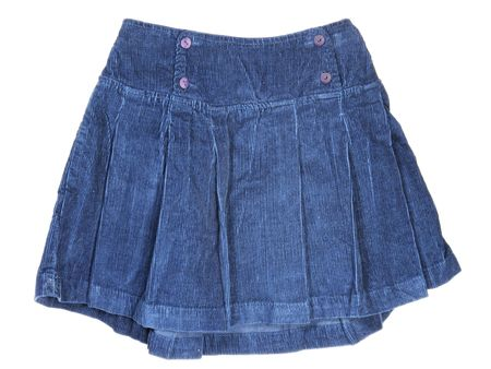 corduroy: The image of childs corduroy skirt under the white background Archivio Fotografico