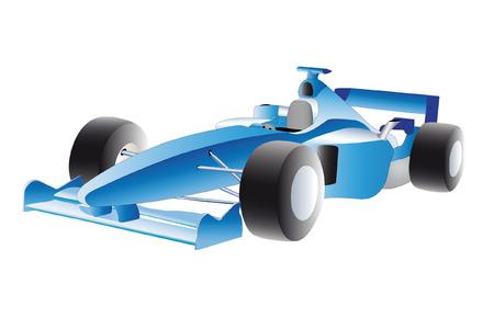 racecar: illustration of racer under the white background