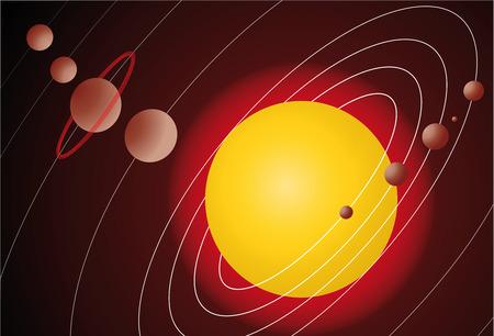 illustration of solar system model Stock Vector - 8646052