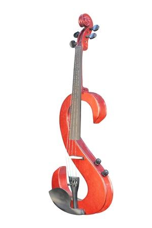 La imagen de violín eléctrico bajo el fondo blanco Foto de archivo - 8748849