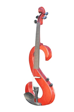 The image of electric violin under the white background Stock Photo - 8748849