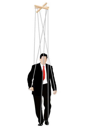 override: illustration of businessmen - marionette