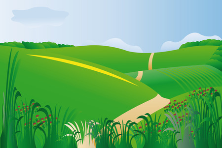 illustration of country landscape Vector