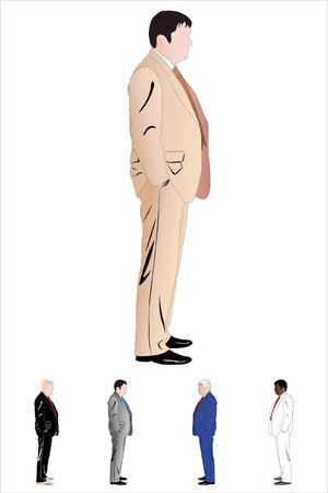 illustration of businessman. Illustration has five colour versions Stock Vector - 8753655