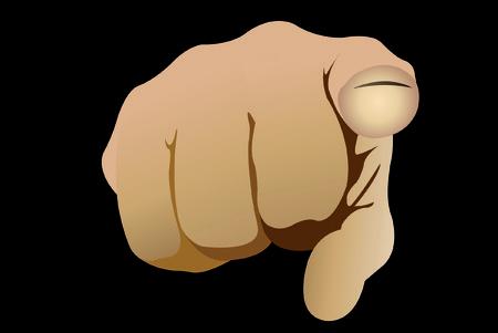 finger pointing up: Vector illustration of close up index finger