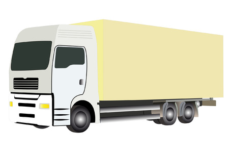vector illustration of truck under the white background Vector