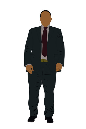 Vector illustration of businessman Stock Vector - 9139670