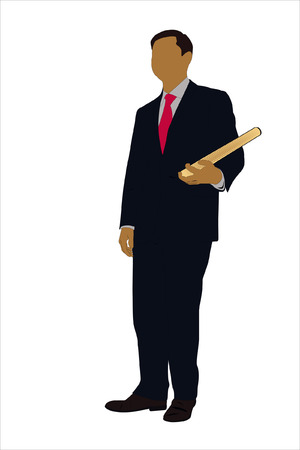 Vector illustration of businessman with book Stock Vector - 9139671