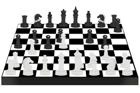 Vector illustration of chess desk under the white background Vector
