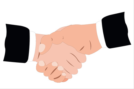 Vector illustration of handshake Stock Vector - 9139673