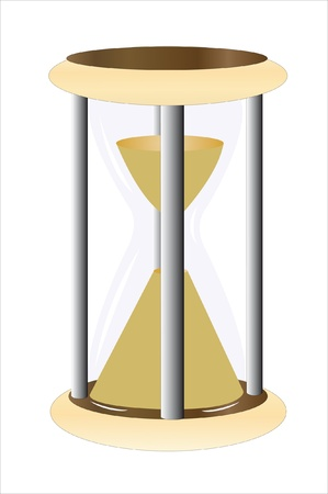 timepieces: Vector illustration of hourglass under the white background Illustration
