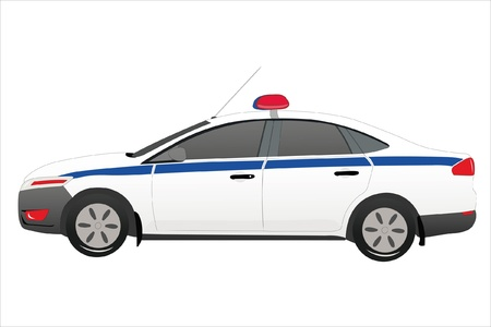 Vector illustration of police car under the white background Vector