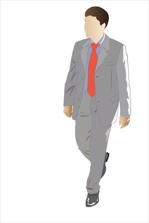 Vector illustration of walking businessman Stock Vector - 9139750