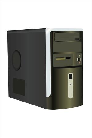 computer case: Vector illustration of computer under the white background Illustration
