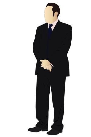 modern office: Vector illustration of businessman Illustration