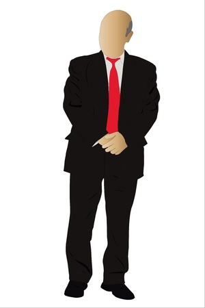 mature adult: Vector illustration of businessman Illustration