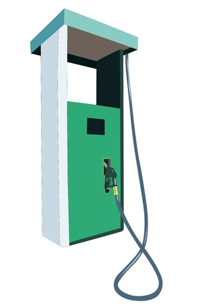 Vector illustration of petrol pump under the white background Stock Vector - 9213900