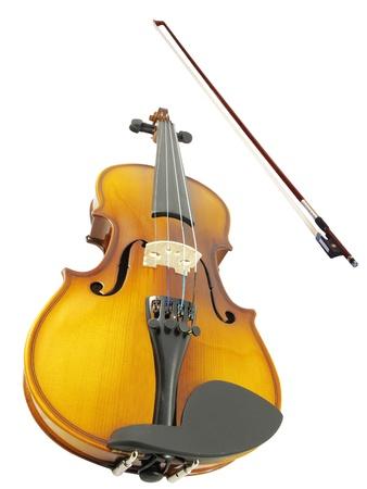 fiddlestick: violines y un fiddlestick en el fondo blanco Foto de archivo