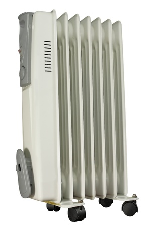 The image of electric heater under the white background photo