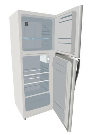 vectorillustratie van koelkast onder de witte achtergrond