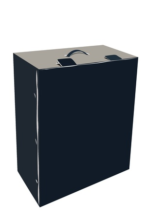 vector illustration of big black box under the white background Stock Vector - 9458567