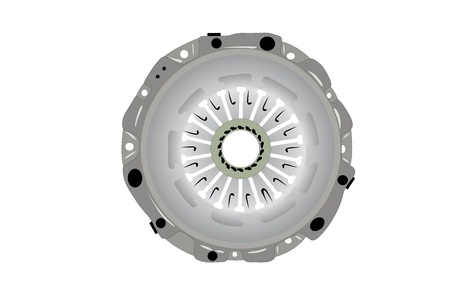 vector illustration of clutch gear under the white background