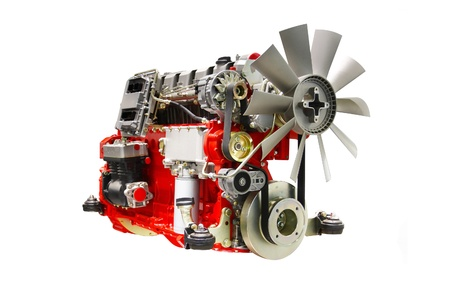 The image of an engine under the white background Stock Photo - 9874966