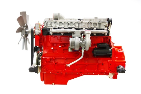 The image of an engine under the white background Stock Photo - 9874972