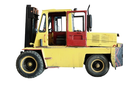 forklift under the white background photo