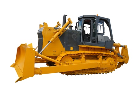 Bulldozer unter den weißen Hintergrund Standard-Bild - 10254564