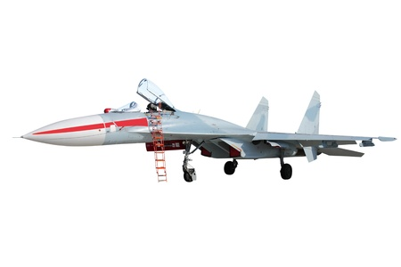 supersonic transport: The image of military airplane under the white background