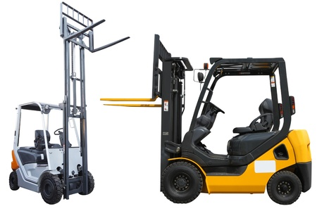 The image of loaders under the white background Stock Photo