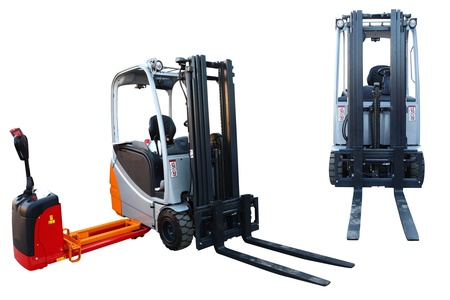 The image of loader in different angles under the white background photo